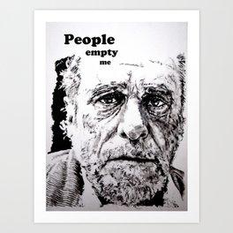 PEOPLE EMPTY ME Art Print