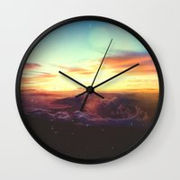 rogue Wall Clocks featuring Planet Rogue by Daniel Montero