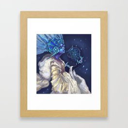 Snow Queen and a SnowFlake Framed Art Print