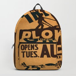 Vintage poster - Plowed Under Backpack