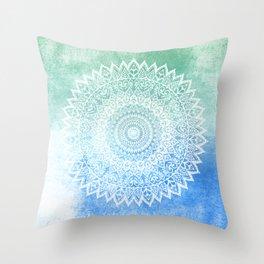 OCEAN PASSION LEAVES MANDALA Throw Pillow