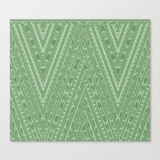 Gorgonize (in green snakeskin) Canvas Print
