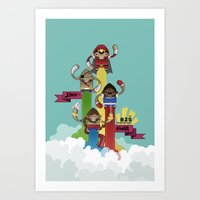 street fighter Art Prints featuring Street Fighter 25th Anniversary!!! by Ed Warner