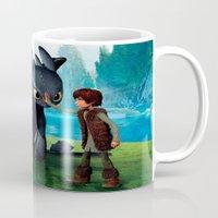 dragon Mugs featuring Dragon by nurfiestore2u