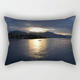 boat at sunset Rectangular Pillow