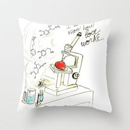 I don't know how love works Throw Pillow