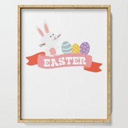 Hoppy Easter Cute Bunny Easter Eggs Gift Serving Tray