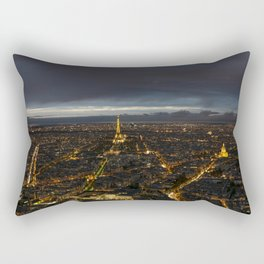 Paris Lights Night View Rectangular Pillow