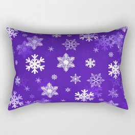Light Purple Snowflakes Rectangular Pillow