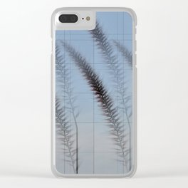 Abstract graminaceae with black lines Clear iPhone Case