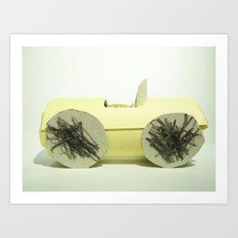 Paper Car Art Print
