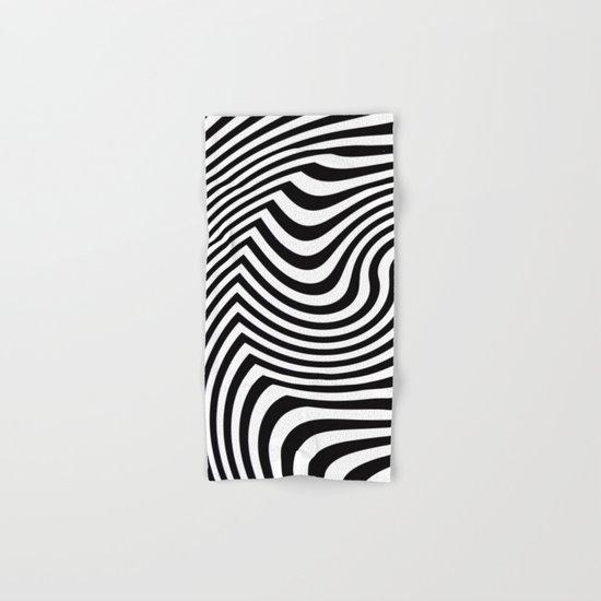 Black and White Pop Art Optical Illusion Hand & Bath Towel