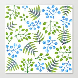 Leaves and more leaves Canvas Print