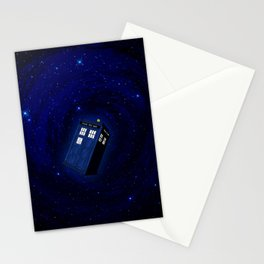 Flying Tardis Starry Night Stationery Cards