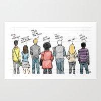 community Art Prints featuring COMMUNITY by Dan Lee Design Studio