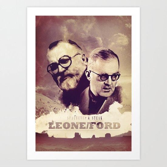 Sergio Leone/John Ford Art Print