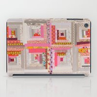 cabin iPad Cases featuring Log Cabin by Wise Craft Handmade