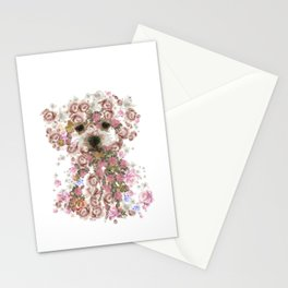 Vintage doggy Bichon frise.DISCOVER Stationery Cards