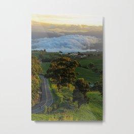 Sunset & street Metal Print