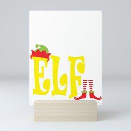 brother elf, christmas, christmas gift, xmas, xmas gift, elf gift, from sister Mini Art Print