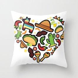 Love Cinco De Mayo Mexican Party Costume Throw Pillow