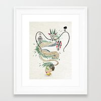 spirited away Framed Art Prints featuring spirited away by Manoou