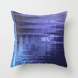 Glytch 21 Throw Pillow