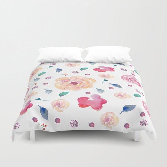 Springtime florals Duvet Cover
