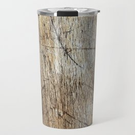 Scratched Wood Travel Mug