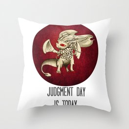Judgment Dragon inspired card Throw Pillow