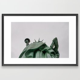 A Lady in green - NYC Framed Art Print