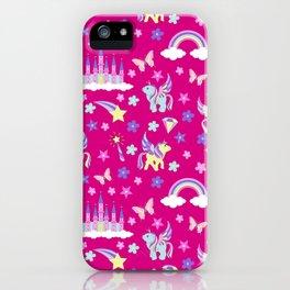 Unicorn, fairy castles, rainbows and magic iPhone Case