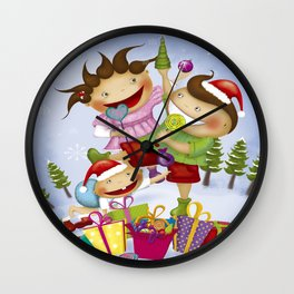 """Noviy god"" Wall Clock"