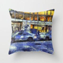 New York police Department Van Gogh Throw Pillow