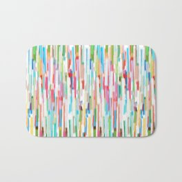 vertical brush strokes  Bath Mat
