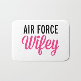 Air Force Wifey Quote Bath Mat