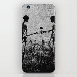 skeleton lovers iPhone Skin