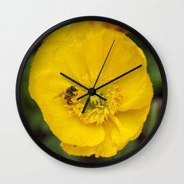 Poppy with Bee Wall Clock