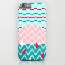 Hello Ocean Pink Sails iPhone Case