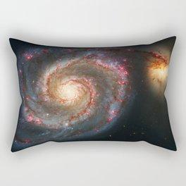 Whirlpool Galaxy and Companion Galaxy Rectangular Pillow