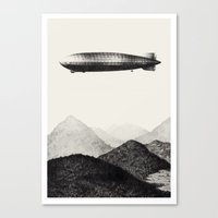 led zeppelin Canvas Prints featuring Zeppelin by Sara Collings