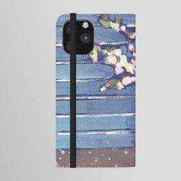 Blue Flowers in Vase iPhone Wallet Case
