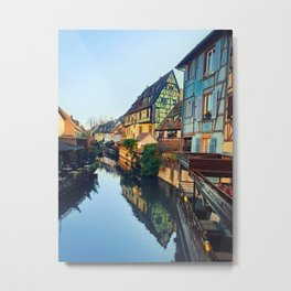 Colorful romantic city Colmar, France, Alsace. Traditional house Metal Print