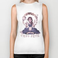 macaroon Biker Tanks featuring Enchanting  by Lettie Bug