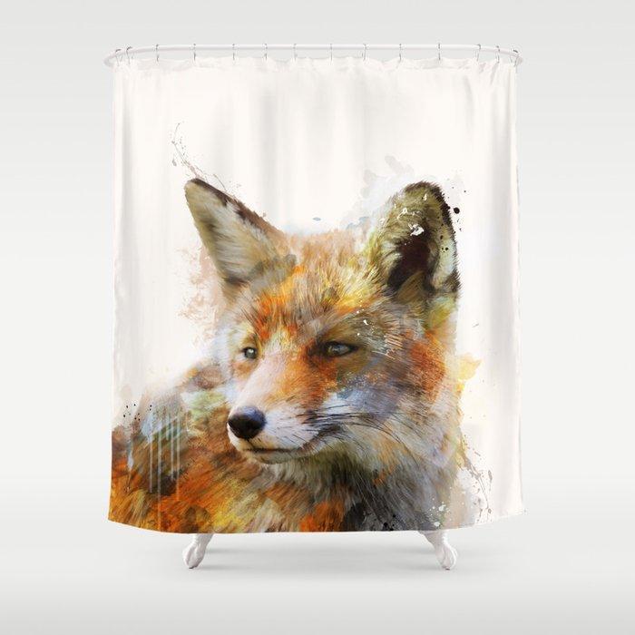 The Cunning Fox Shower Curtain