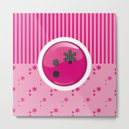 Pink Writer's Mood Metal Print