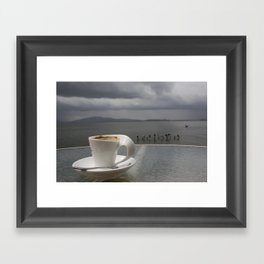 Coffee Before the Storm Framed Art Print
