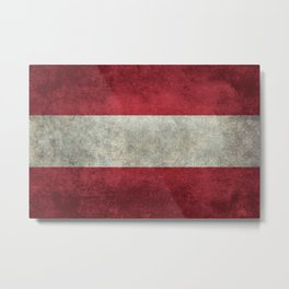 Austrian National flag - Grungy retro version Metal Print