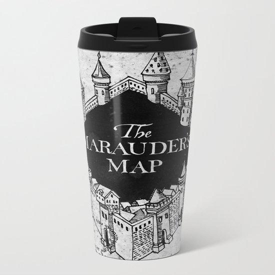 Marauders Map Metal Travel Mug