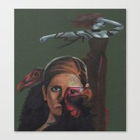 buffy the vampire slayer Canvas Prints featuring Buffy the Vampire Slayer by Marika Kuylman